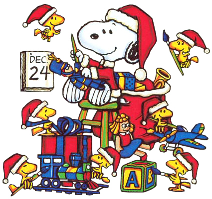 Christmas Snoopy Woodstock