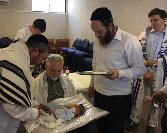 Brit Mila Uzziel and rabbis