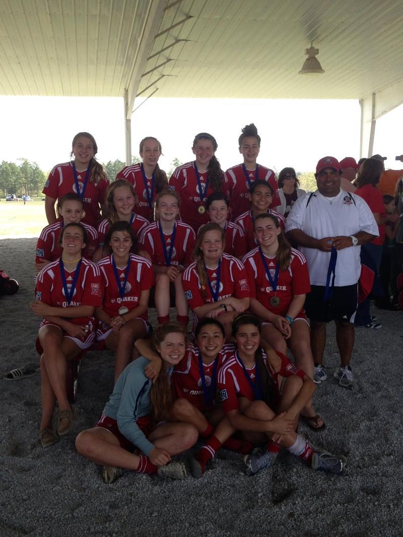 U15 Girls Gulf coast cup champions 2013