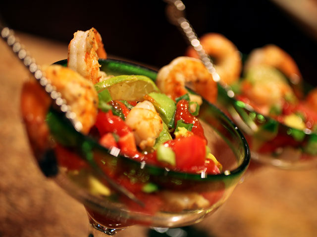 Tequila-Lime Grilled Shrimp Cocktail Recipe.