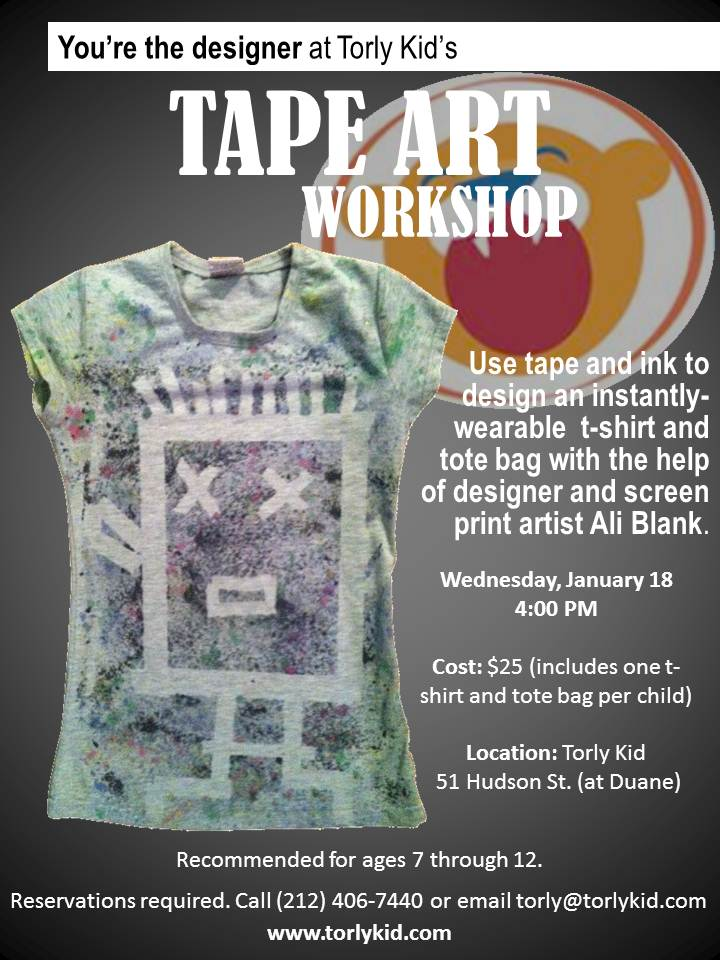 tape art workshop at torly kid - january 18 2012