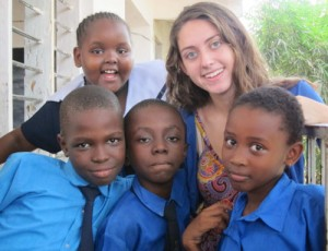 Paige McDermott with Royal Kids Students
