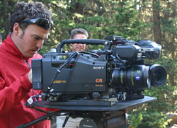 Director David D'Angelo with Sony dual HD camera setup