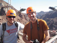 David & Michael shooting for Nat Geo World's Toughest Fixes:Hoover Dam