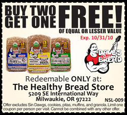 Healthy Bread Store B2G1 coupon