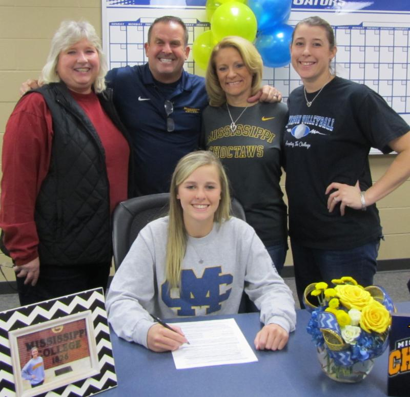 Bailee Berringer volleyball signing