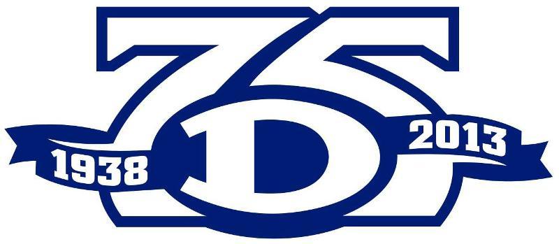 75th football anniversary logo