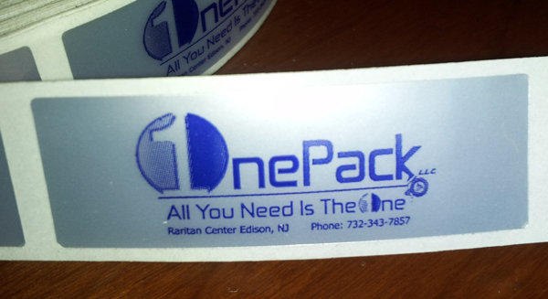 one pack label