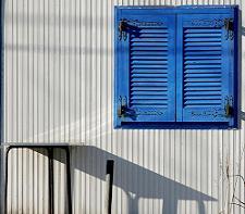 Greek Blue Door