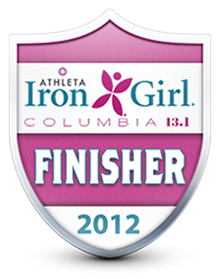 Iron Girl Half Marathon Finisher Badge