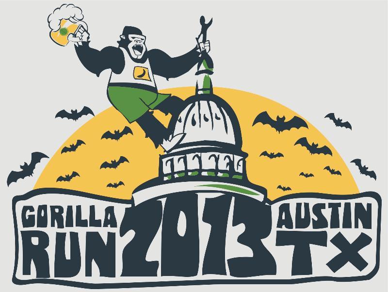 Gorilla Run 2013 Tshirt