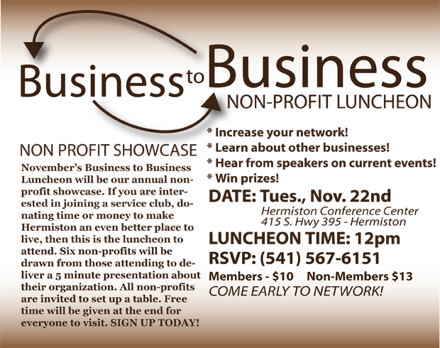 November's Business to Business Luncheon