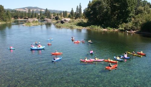 kayakers at Coyote Rock