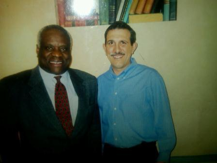 Danny Gatto and Supreme Court justice Clarence Thomas