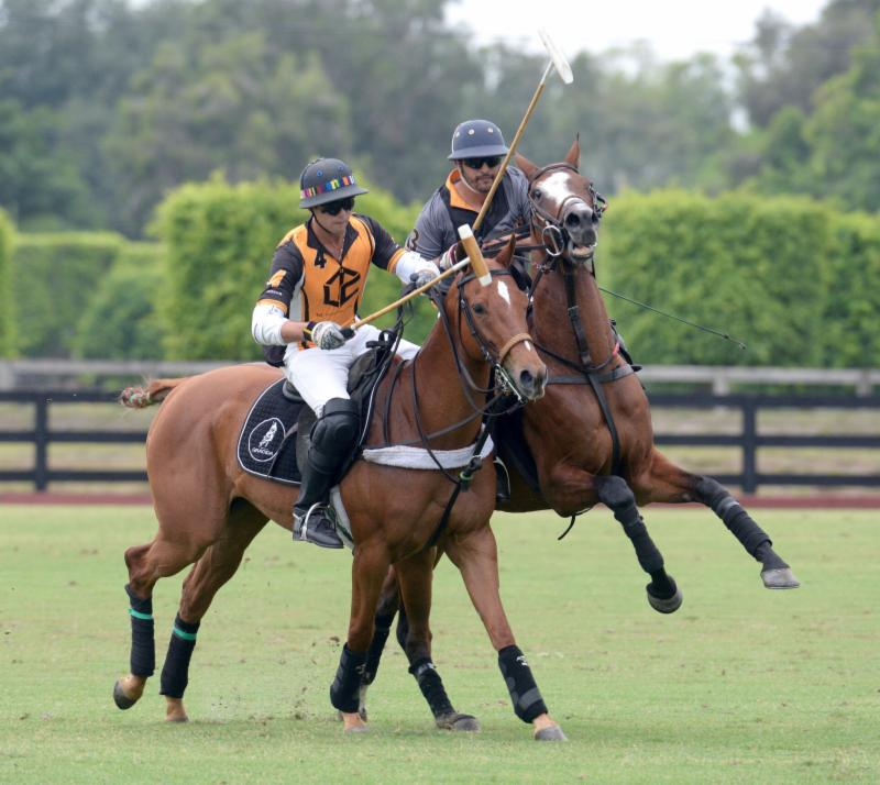 Carlitos Gracida (4) of Palm Beach Polo and Guille Aguero (3) of Polo Gear