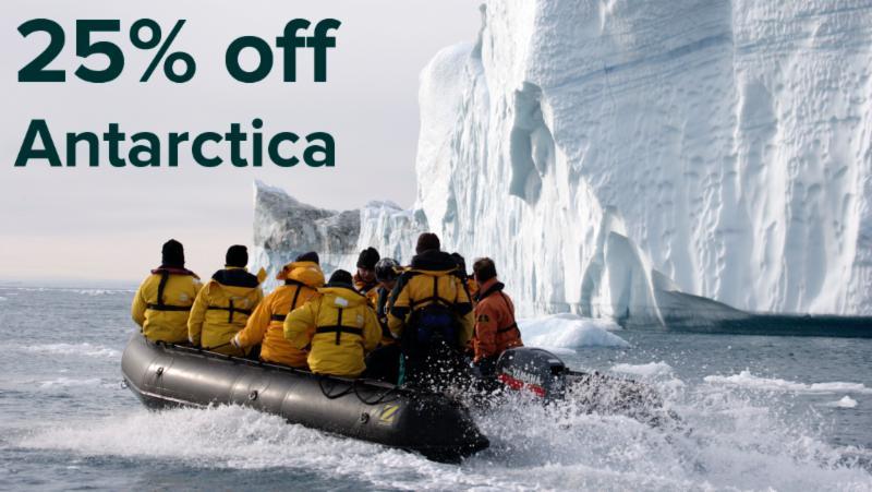 25% off Antarctica