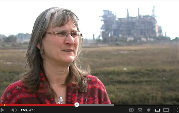 Laura Hunter says goodbye to the South Bay Power Plant.