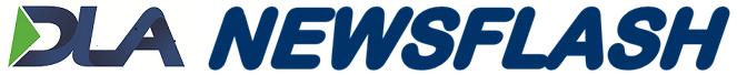 DLA Newsflash logo arial round w/ border