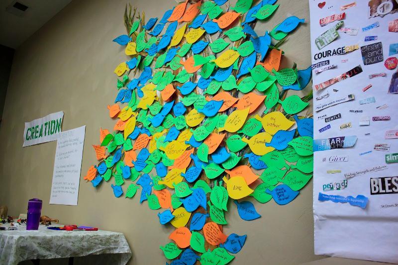 Creation tree in prayer room