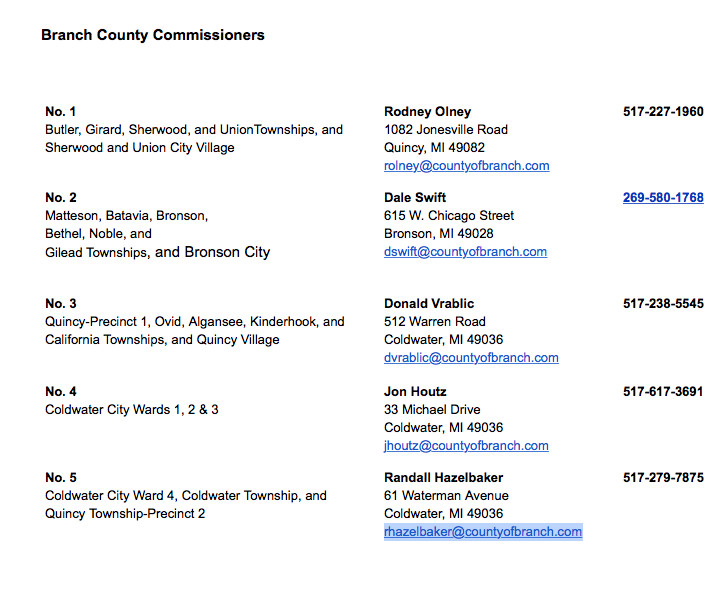 Branch County Commissioners