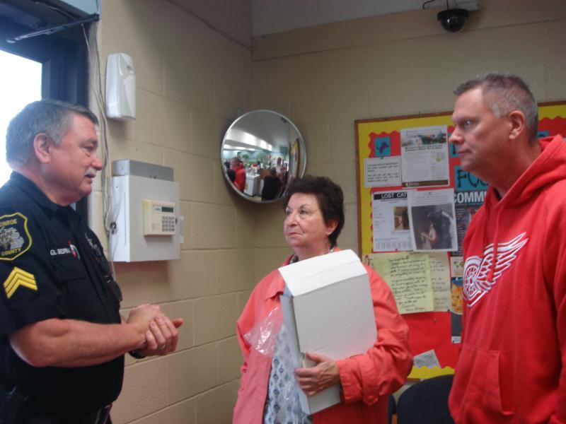 Monroe 2014 Shelter Award  4-29-16  Sergeant Greg Berman,  Iris Parlangeli, Chris Anderson