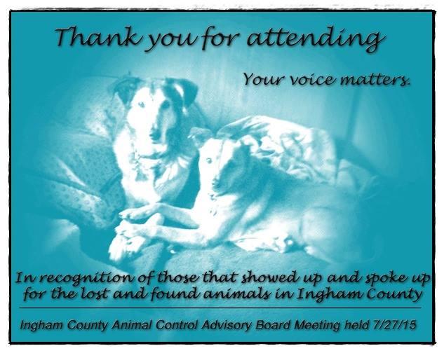 Ingham County Animal Control Meeting