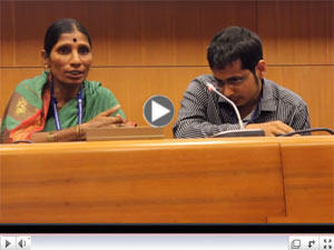 Video of Waste Picker Participating in a Panel Discussion