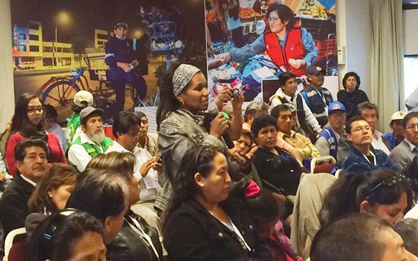 Workers organizing - Lima, Peru