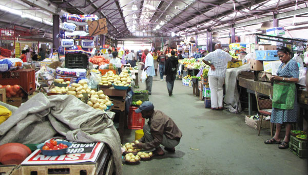 Marketplace in Durban, South Africa