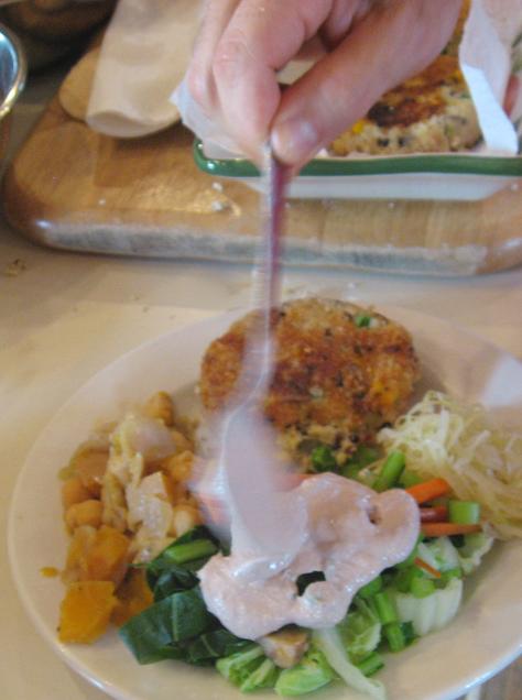 Plating a dish