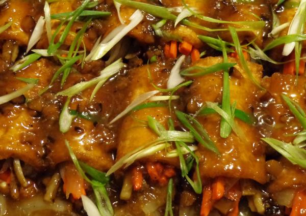 Glazed tofu rolls