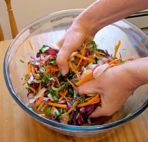 squeezing salad 2