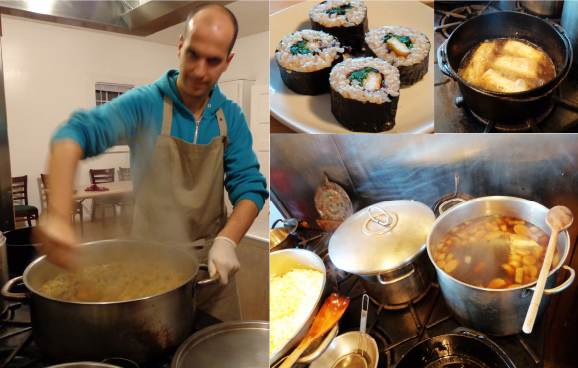 Lebel 2 Nov 2012 cooking dinner