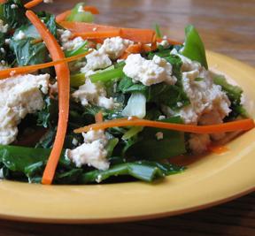 tofu/cilantro