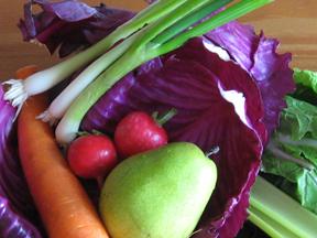 pressed salad ingredients