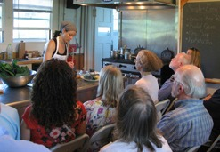 Cooking class demonstration