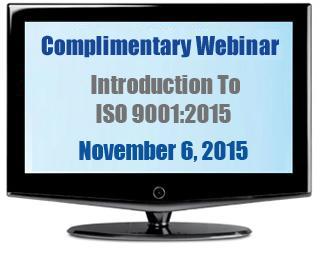 ISO 9001: 2015 Webinar