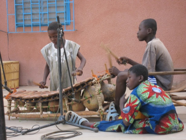 Playing the Balafon