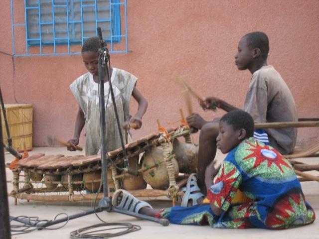 Playing the Balafon