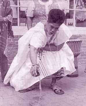 Woman Libation