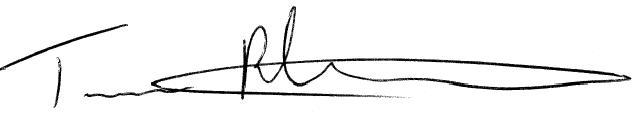 Tory's Signature