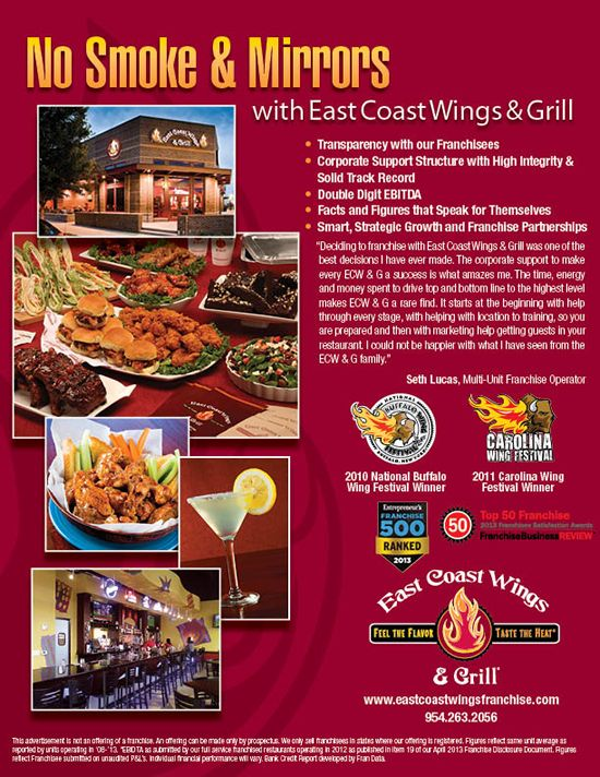 East Coast Wings & Grill: Meet us at booth #4768 on Level ...