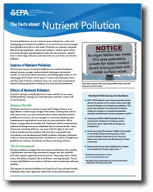 EPA fact sheet nutrient pollution