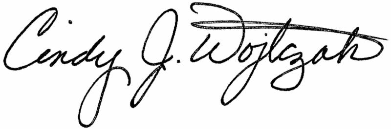 Cindy's signature