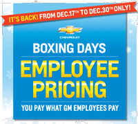 Boxing Days Sale Gm Employee Purchase Program Last Chance For
