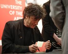 Neil Gaiman book signing