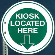 Student-designed PPA kiosk sign