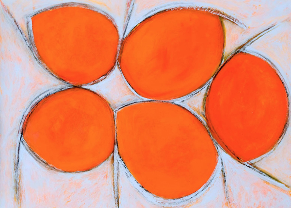 Jostle: Orange by Ellen Chuse '67 (Sculpture)