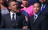 President Obama and Jason Chuong
