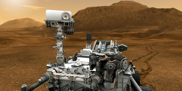Curiosity Rover driven by Sculpture alumnus